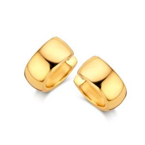 Boucles d'oreilles argent 925 plaqué or 18 carats